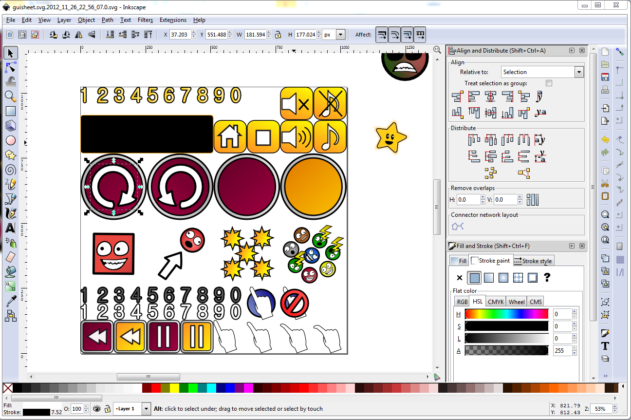 Utilising Inkscape's vector art for making games.